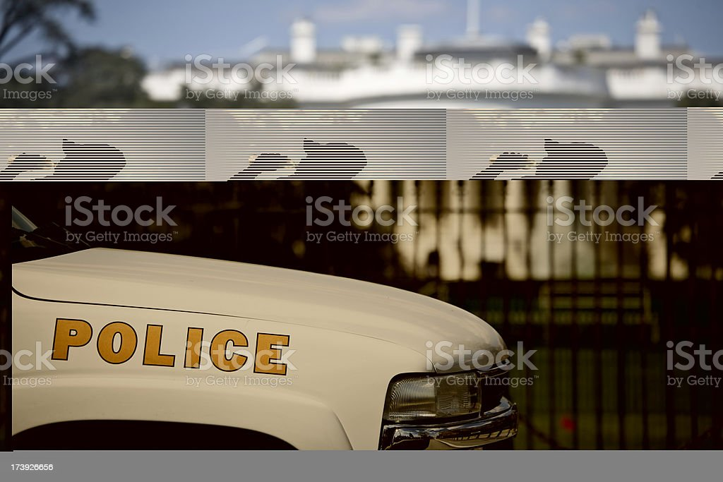 White House Security royalty-free stock photo