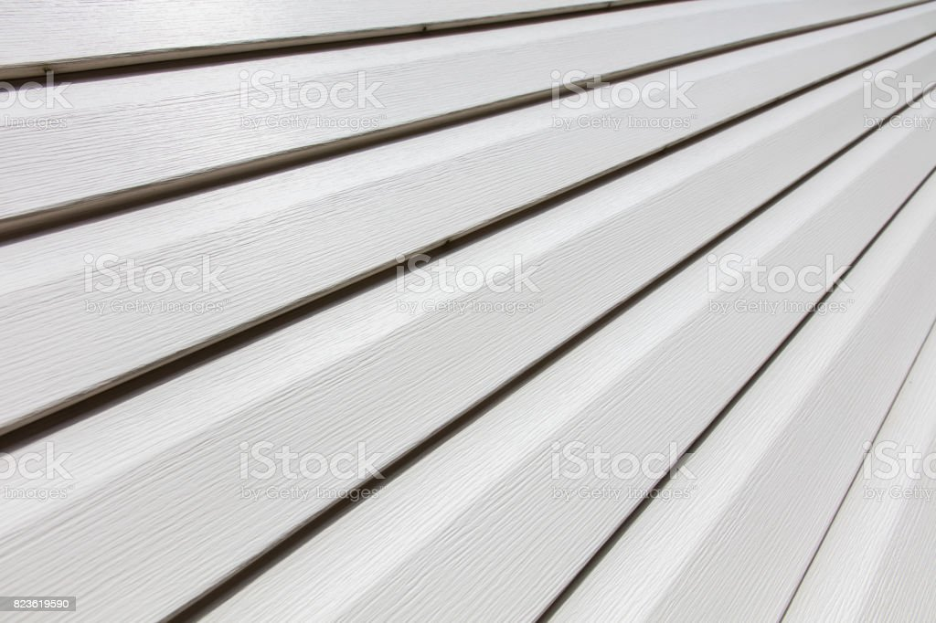 white house siding stock photo