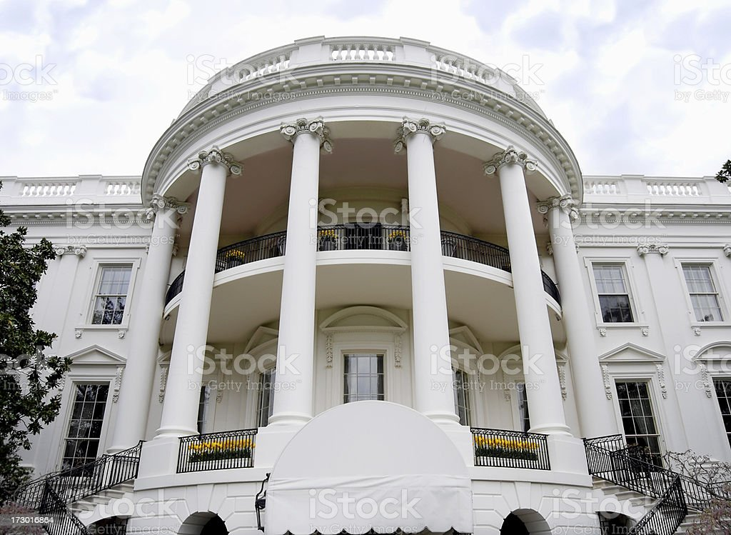 White House South side royalty-free stock photo