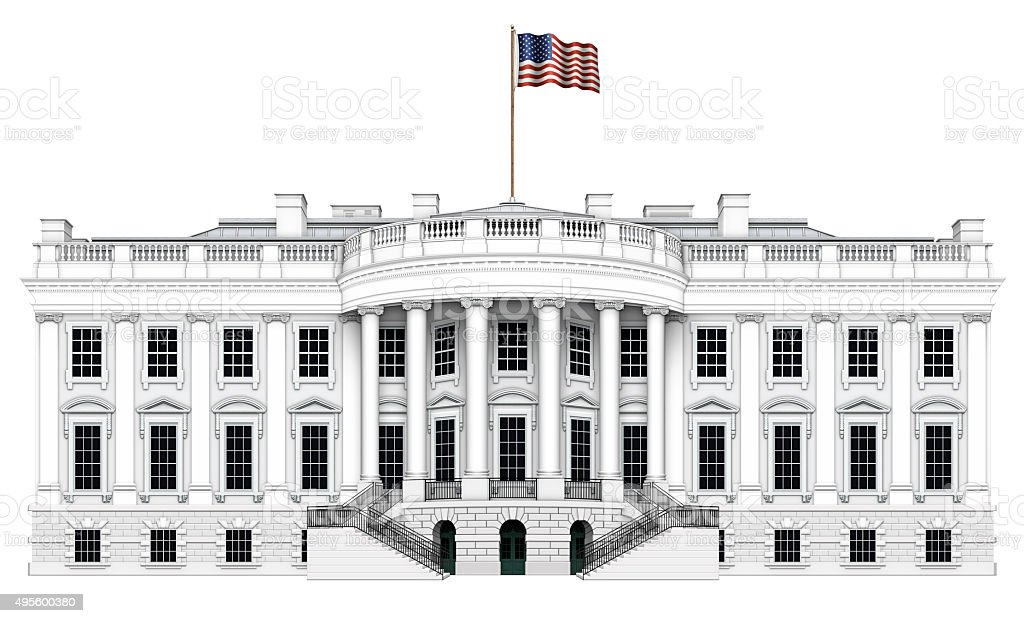 White House South View stock photo