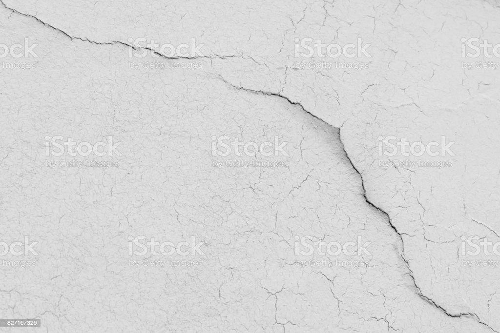 White House wall with many cracks stock photo
