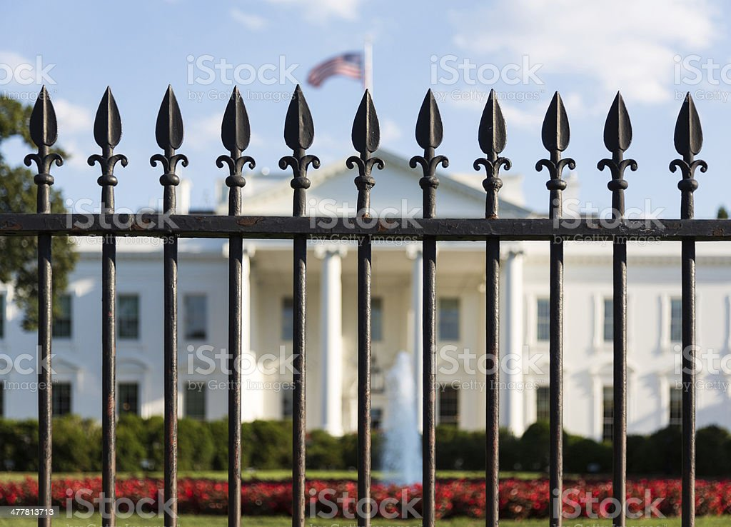 White House Washington DC behind bars royalty-free stock photo