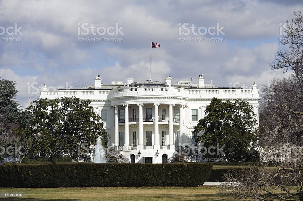 white house, Washington DC in on a cold day royalty-free stock photo