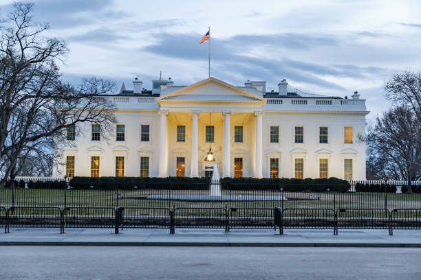 beyaz saray, washington dc, abd - white house stok fotoğraflar ve resimler