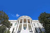 White House Washington DC USA Full Wide Angle