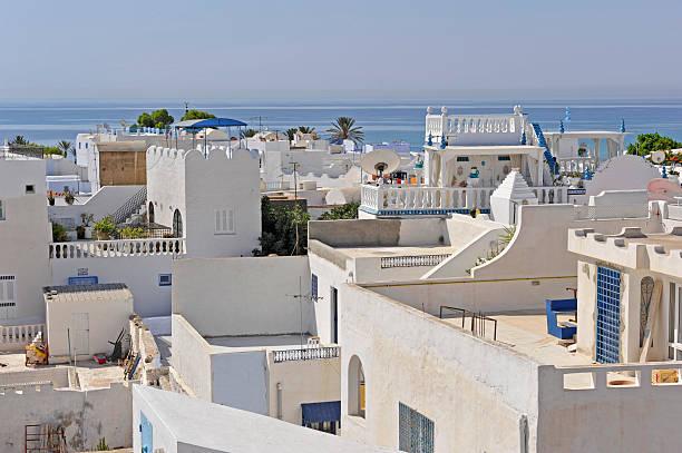 Weiße Häuser in Hammamet – Foto