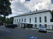 Washington DC,USA - June 28,2019:White House West Wing. Contains the presidential office. Ministers enter the White House from here by car.