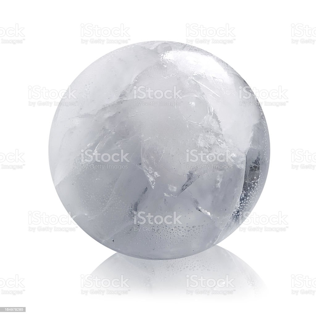White ice sphere isolated royalty-free stock photo