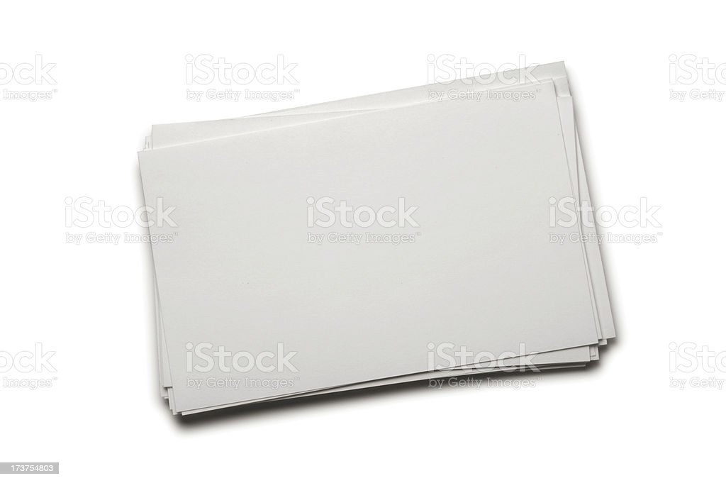 White index cards royalty-free stock photo