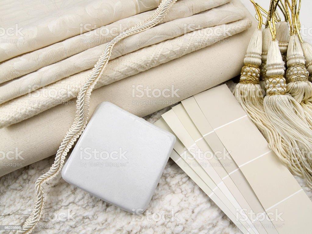 White interior decoration plan royalty-free stock photo
