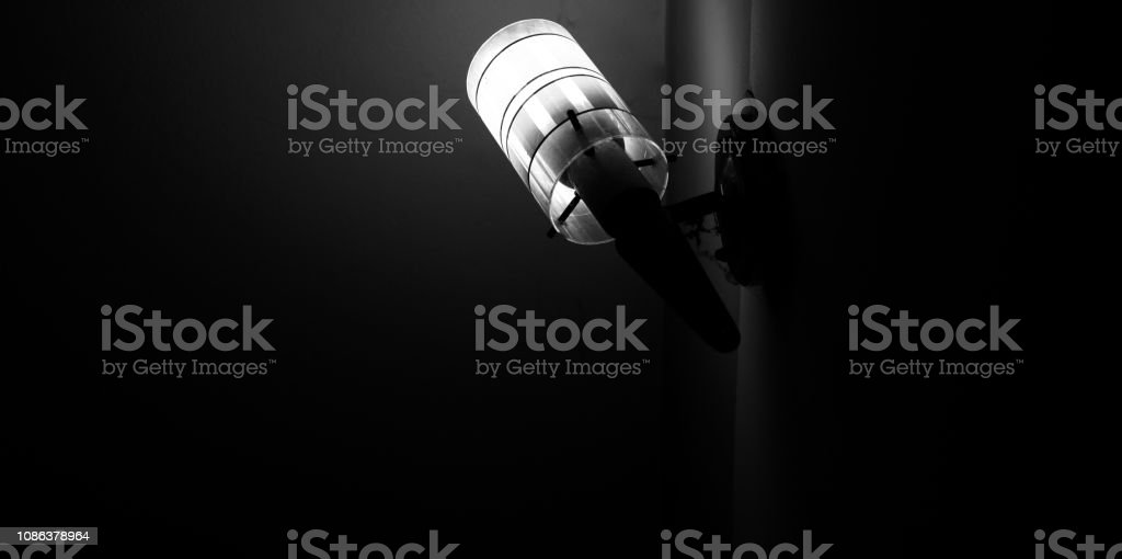 White interior electric lamps isolated photo stock photo