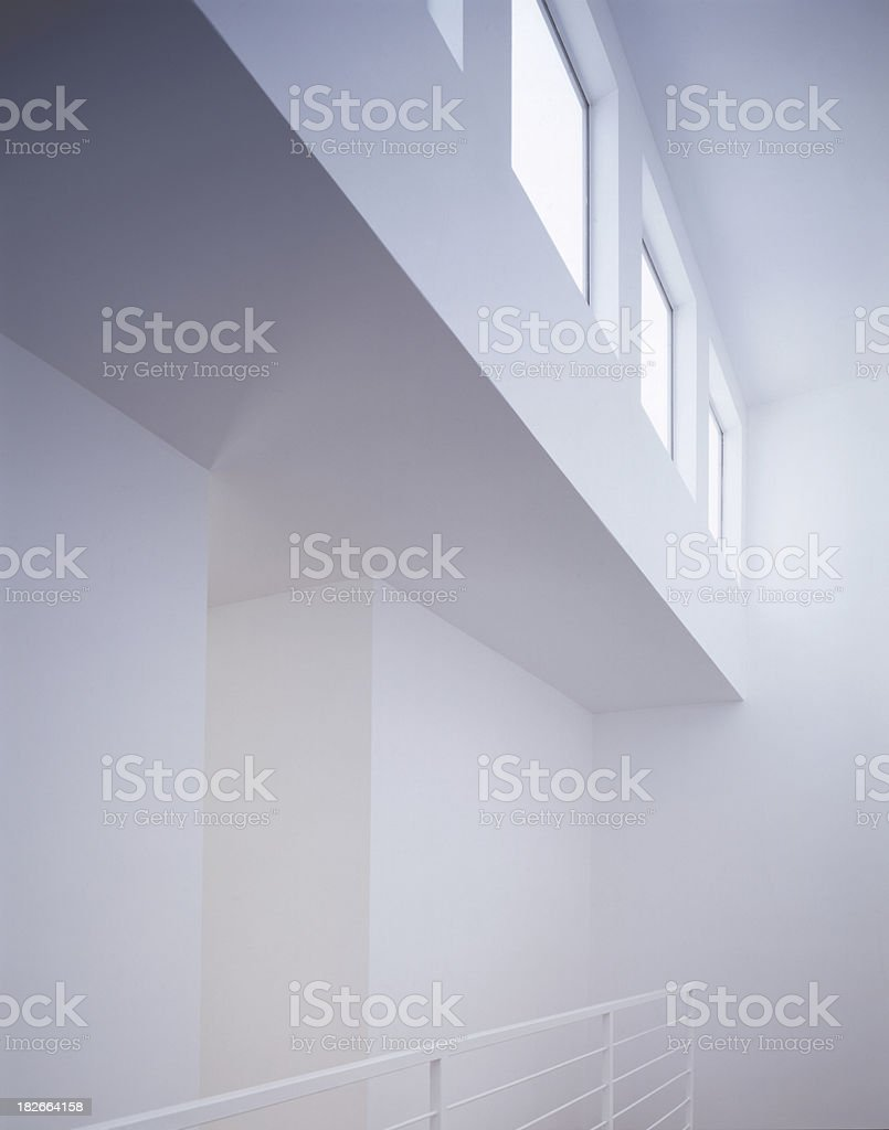 White Interior with Windows royalty-free stock photo