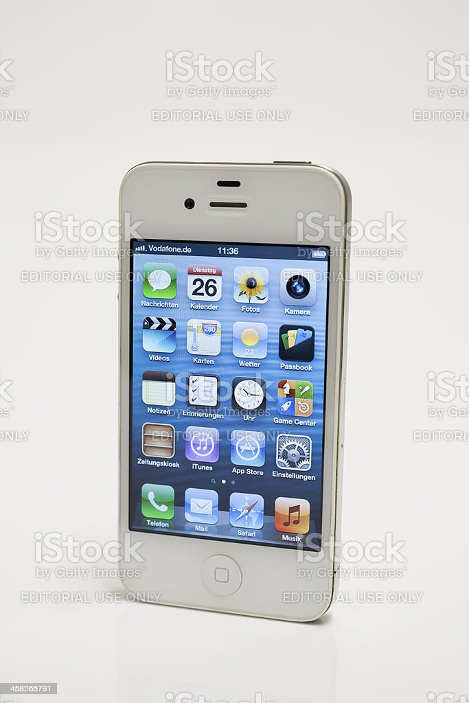 White iPhone 4 royalty-free stock photo
