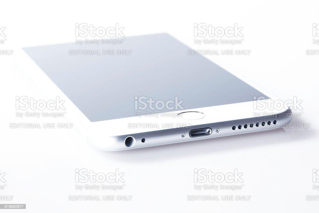 Bianco Iphone 6 Plus Su Sfondo Bianco Fotografie Stock E Altre