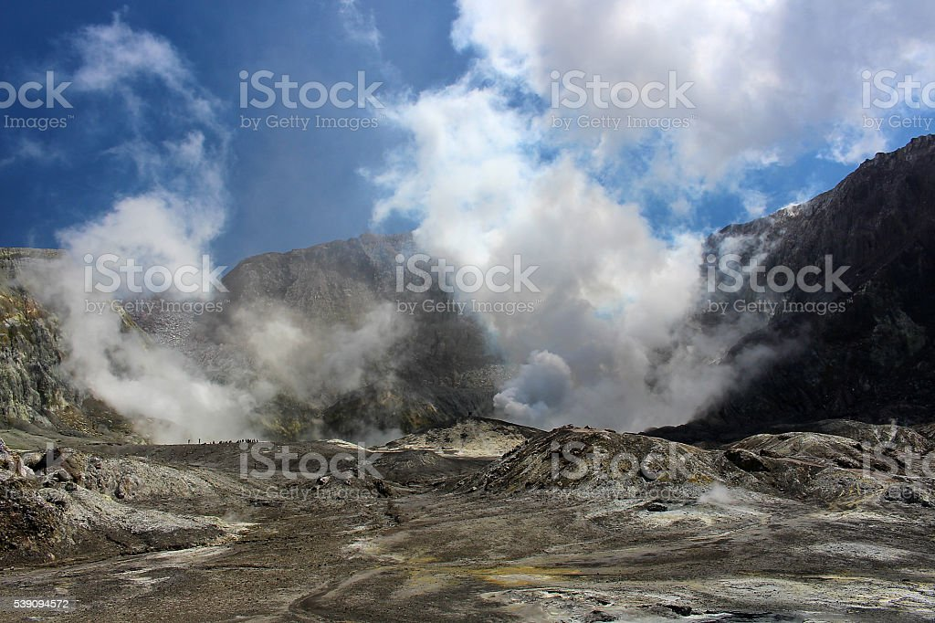 White Island -Neuseeland stock photo