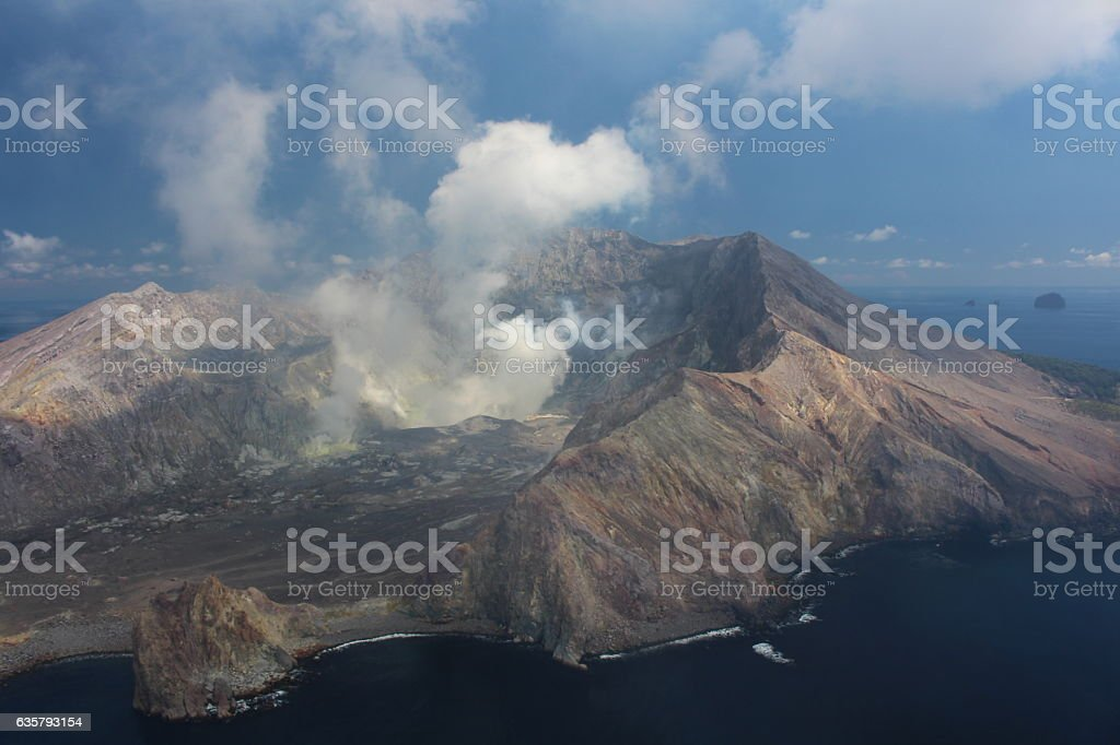 White Island -Vulkan stock photo