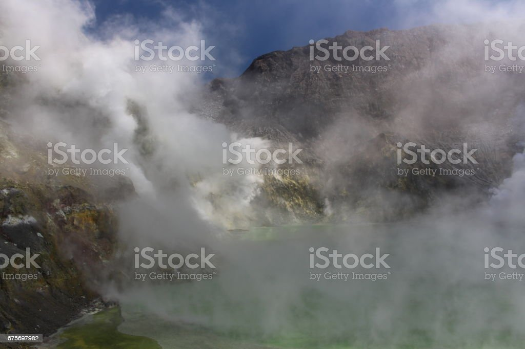 White Island -Vulkankrater-crater lake royalty-free stock photo