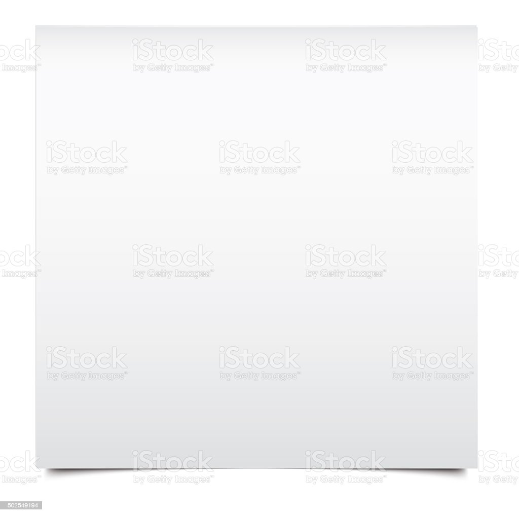 White isolated blank index card stock photo