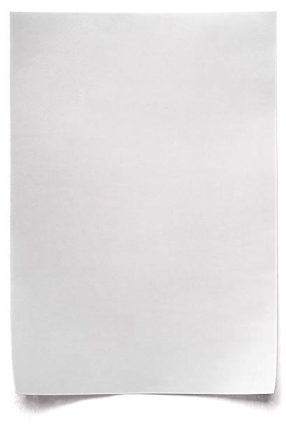 белый изолированных пустой документ - письмо документ стоковые фото и изображения