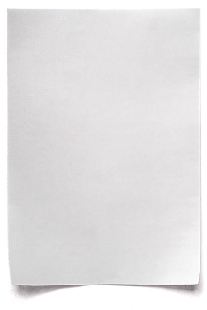 white isolated sheet of blank paper - curled up stock pictures, royalty-free photos & images