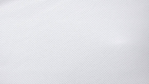 white jersey pattern - sports uniform stock photos and pictures