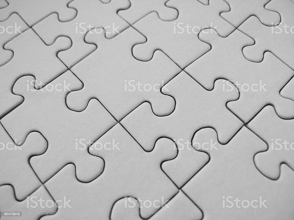 Weiße Puzzle Lizenzfreies stock-foto