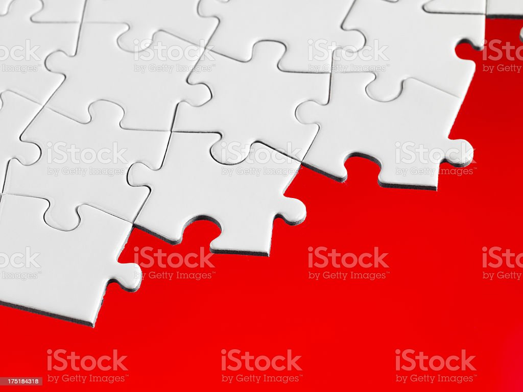 White Jigsaw Pieces royalty-free stock photo