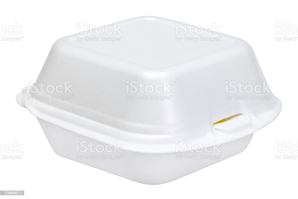 white junk food box stock photo