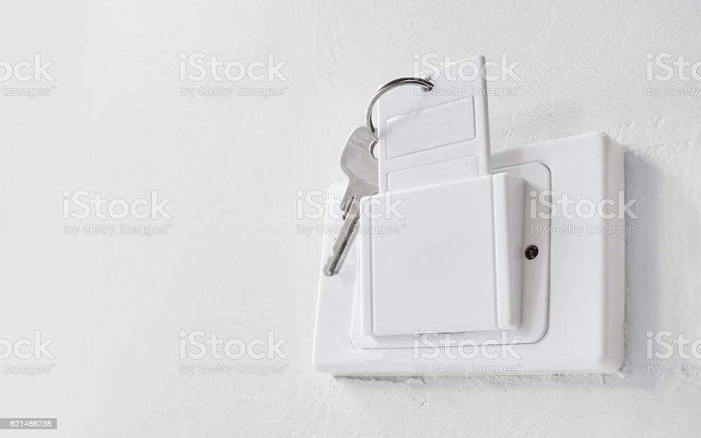 white key card foto stock royalty-free