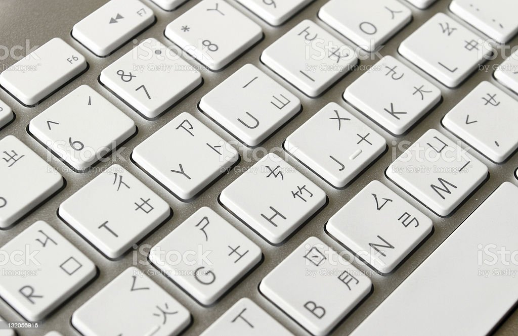 White Keyboard With Chinese Characters Stock Photo More Pictures