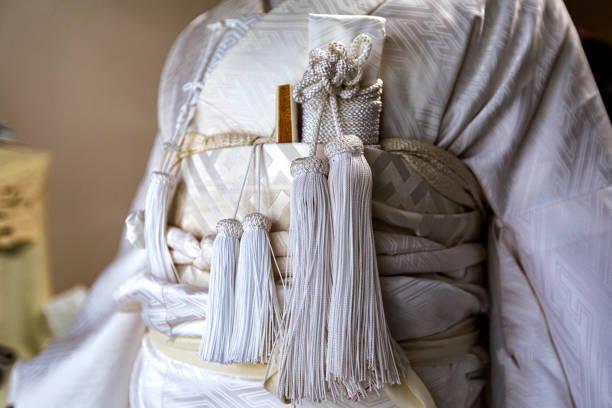 White kimono stock photo