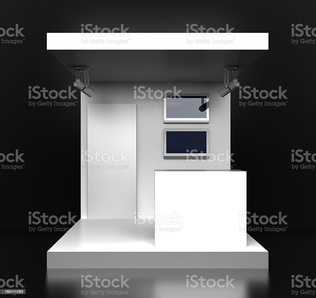 White kiosk stock photo