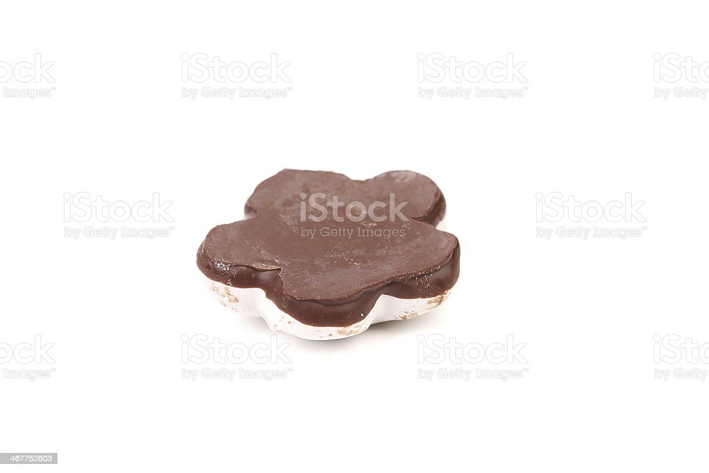 White Kiss Cookie with chocolate. royalty-free stock photo