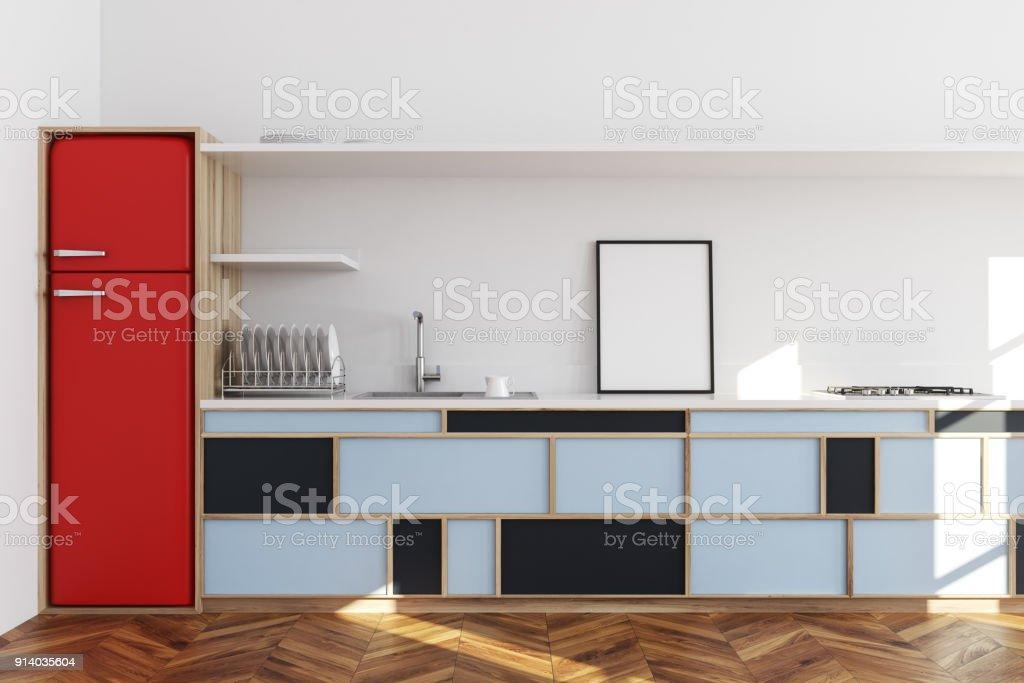 Weiße Küche Blaue Arbeitsplatte Poster Stockfoto und mehr ...