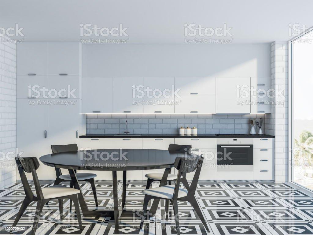 Au Comptoir Du Carrelage photo libre de droit de un comptoir de cuisine blanc et