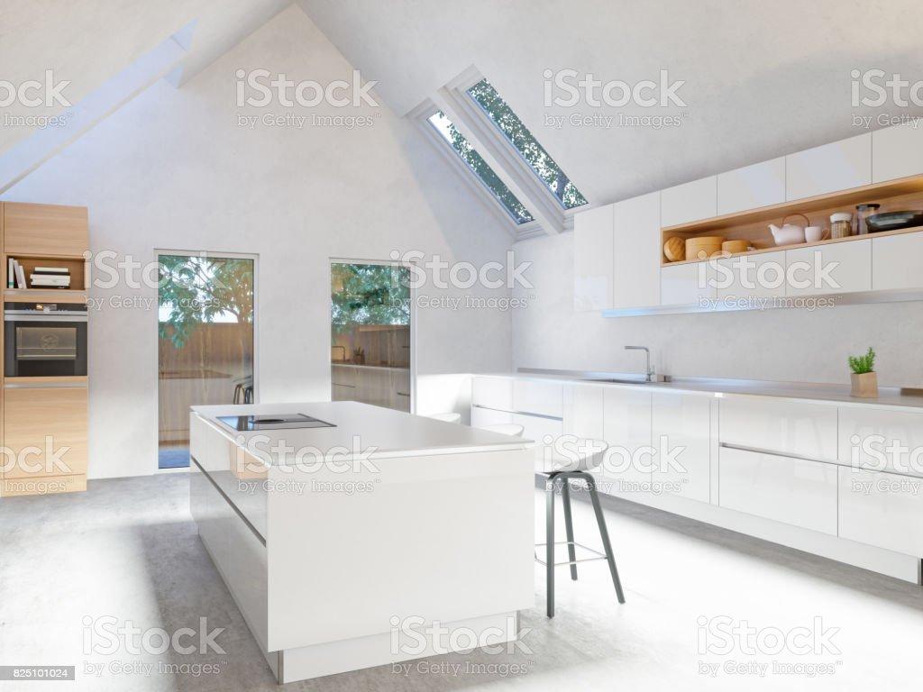 Weiße Küche Interieur – Foto