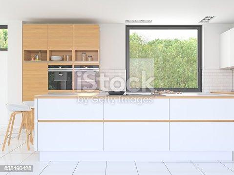 istock White kitchen Interior 838490428