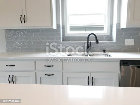 all white kitchen details