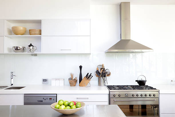 White kitchen stock photo