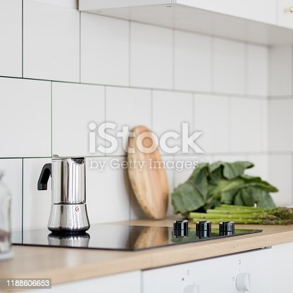 istock White kitchen with classic tiles 1188606653