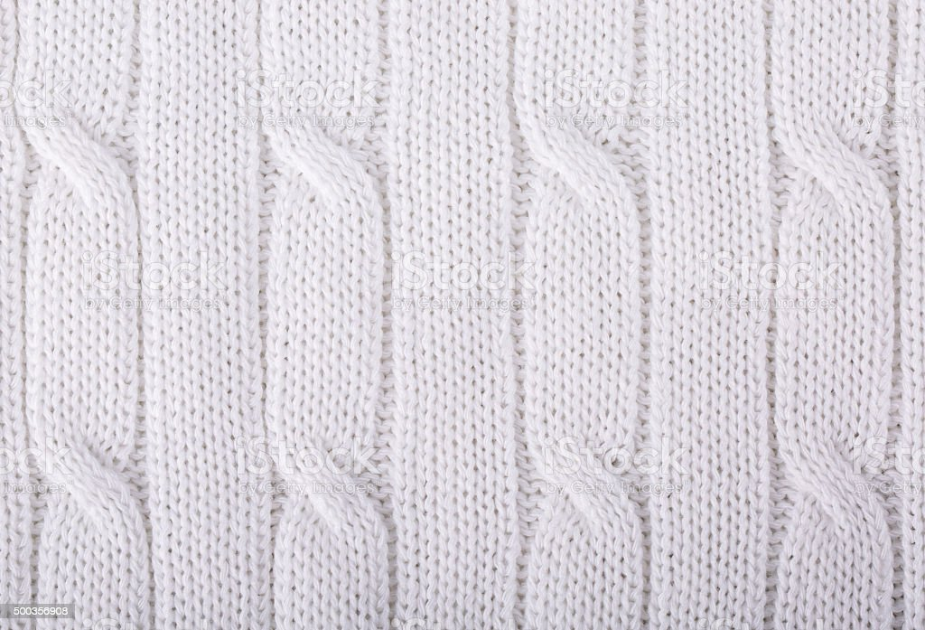 White knitted background. stock photo