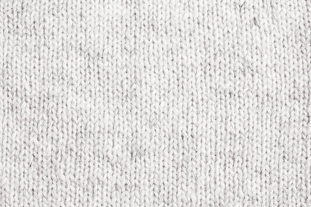 white knitted wool - close up - wool stock photos and pictures