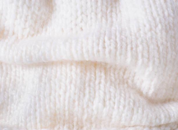 White knitwear texture stock photo