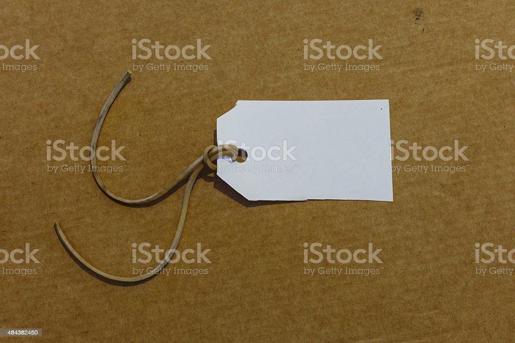 white label isolated carton background stock photo