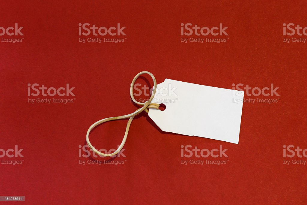 white label isolated red background stock photo