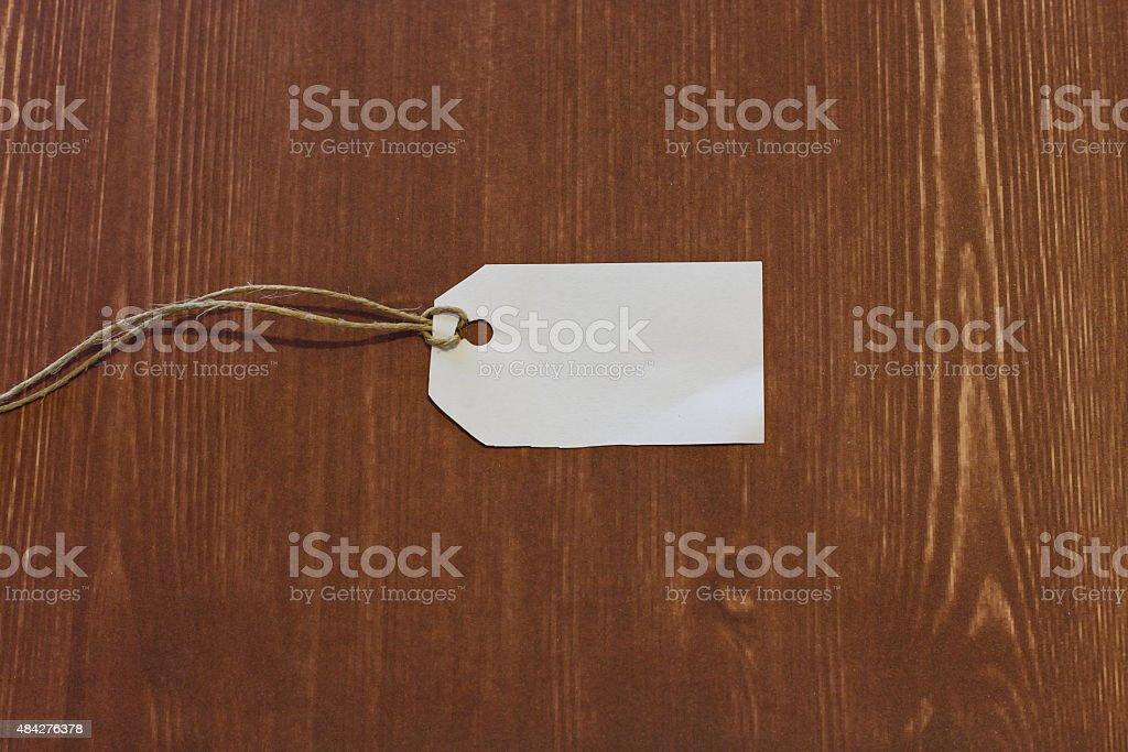white label isolated wood background stock photo