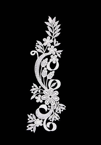 białe koronki kwiaty - koronka zdjęcia i obrazy z banku zdjęć