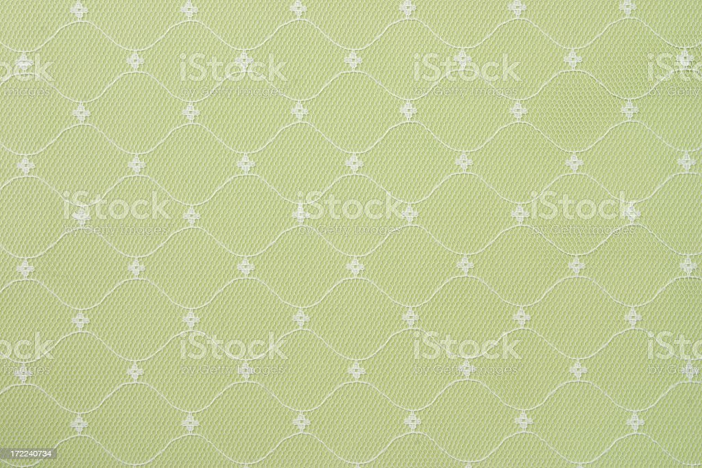 White Lace & Green Background royalty-free stock photo