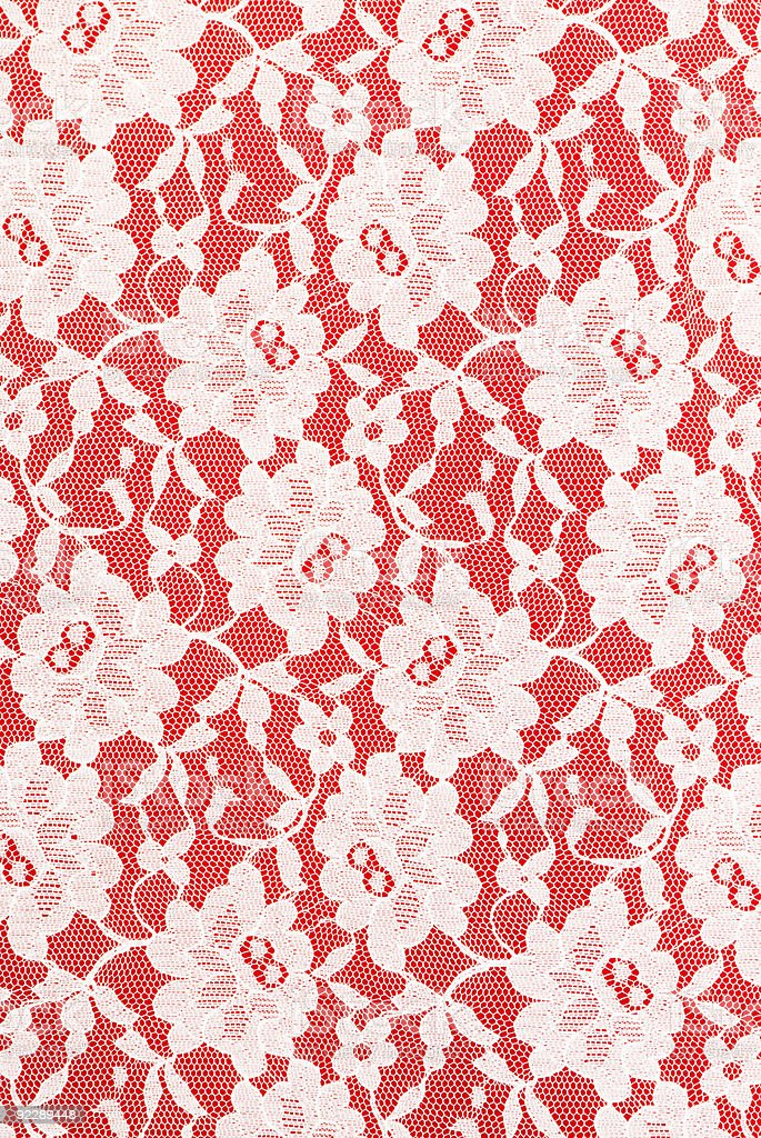 white lace on red background royalty-free stock photo