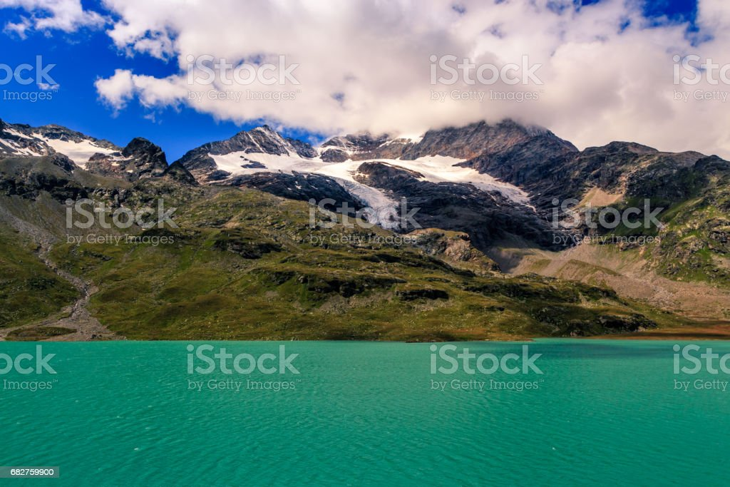 Lago Bianco, Ospizio Bernina, Poschiavo, Switzerland stock photo
